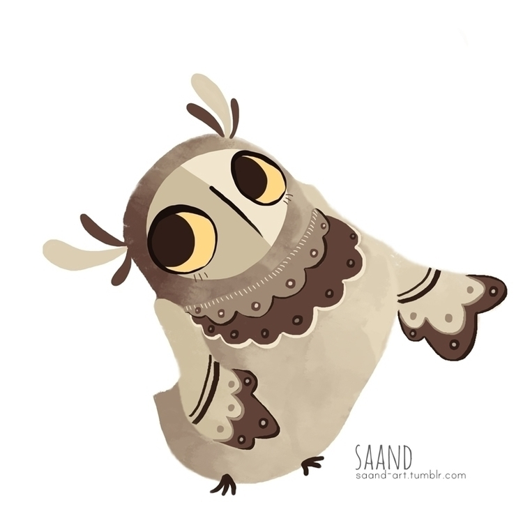 Owly owl ~ - bird, illustration - saand | ello