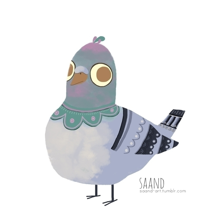 Pigeon ~ - illustration, bird, pigeon - saand | ello
