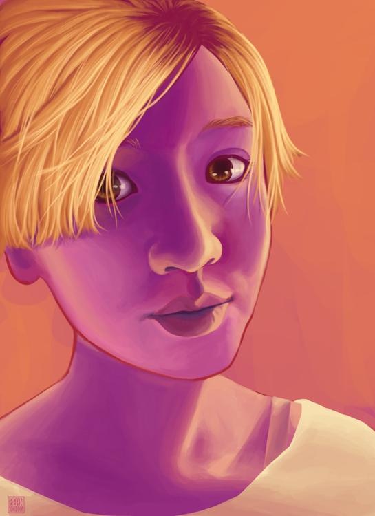 Rai Sunshine! 2013 - portrait, digitalart - beansterpie | ello