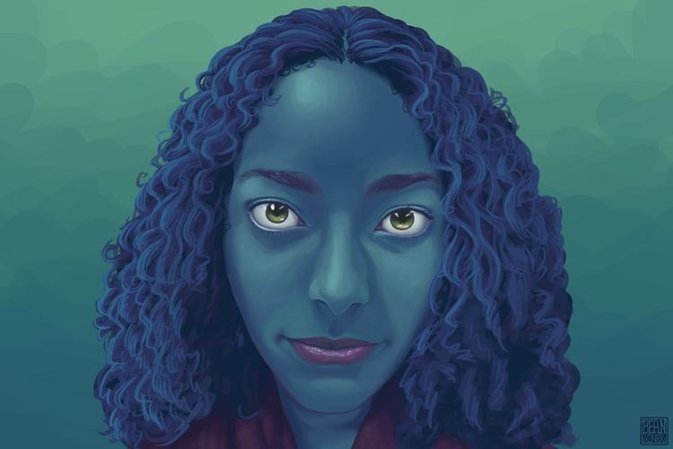 Cool Lady 2014 - portrait, digitalart - beansterpie | ello