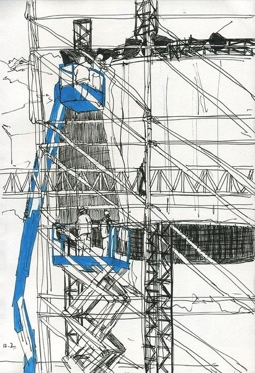 reportage, drawing, pen, acrylicpaint - ononlao | ello
