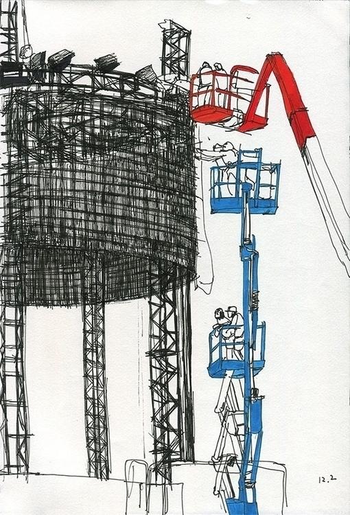 construction, reportage, drawing - ononlao   ello