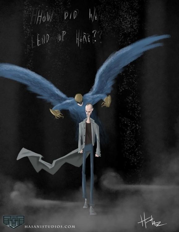quick Birdman sketch fun - fanart - hasaniwalker | ello