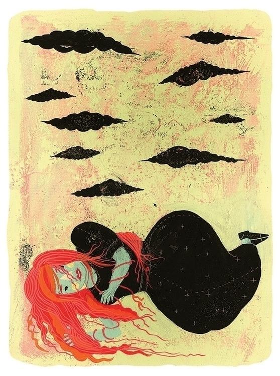 Black Clouds - illustration, marinamilanovic - marinamilanovic-2473 | ello