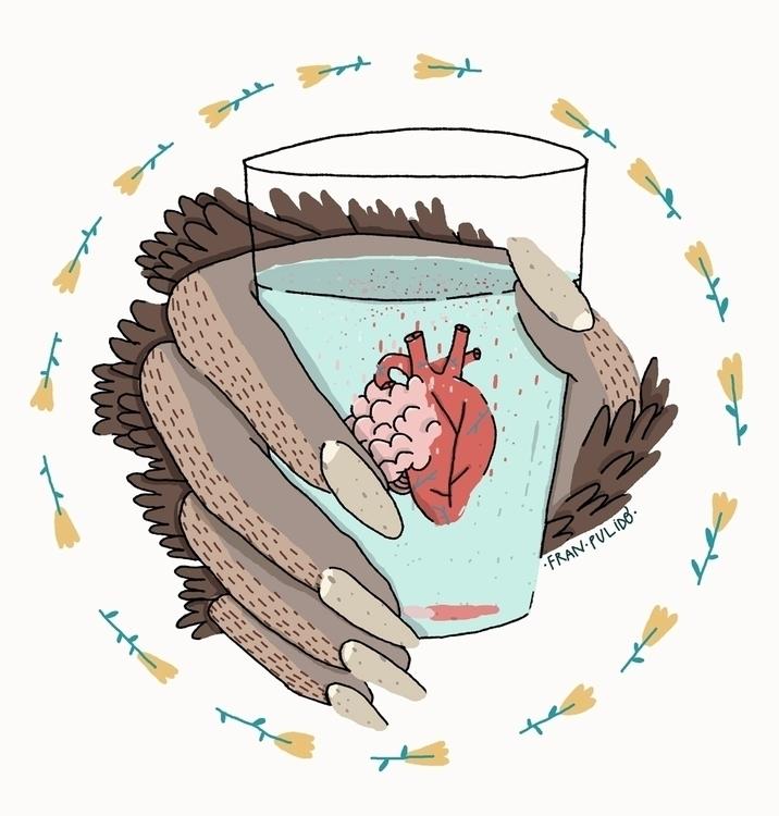 Brain Heart - brain, heart, werewolf - franpulido | ello