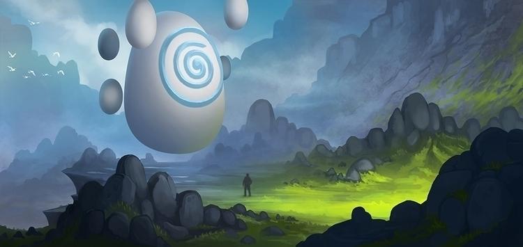 Wind Stone - illustration, fantasy - kamilteczynski | ello