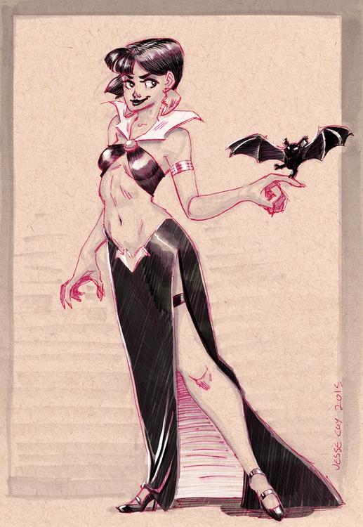 Vampirella long dress short hai - jessecoyart | ello