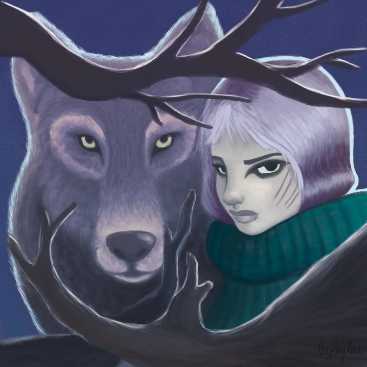 Winter - seasons, illustration, animals - leyleyleu | ello