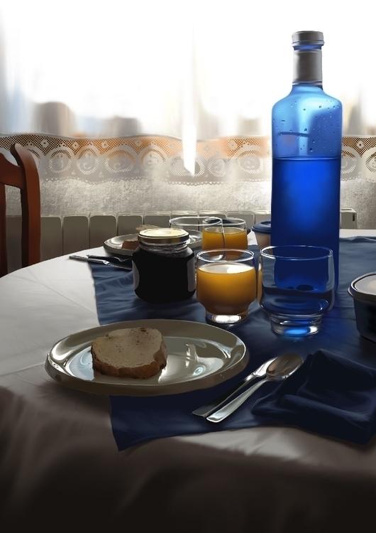 Breakfast ligth. fisrt iPad fin - jaime_sanjuan | ello