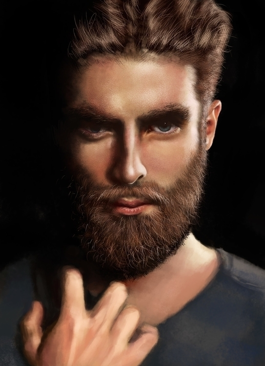 Fierce Man Digital Portrait 201 - siberian_sweaters | ello