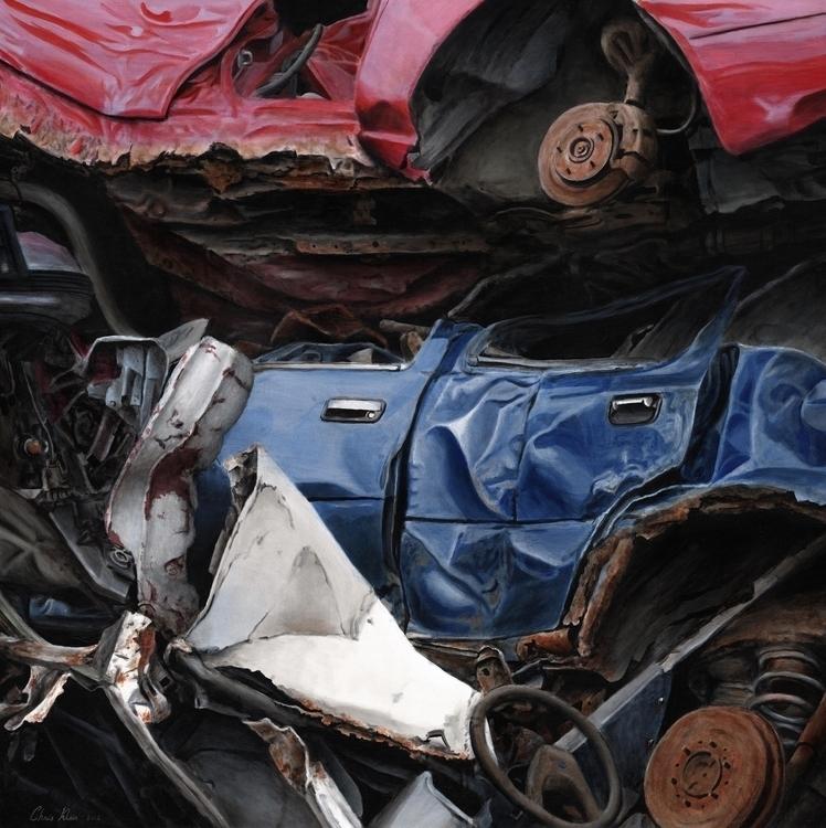 Demise blue Ford Acrylic canvas - chrisklein | ello