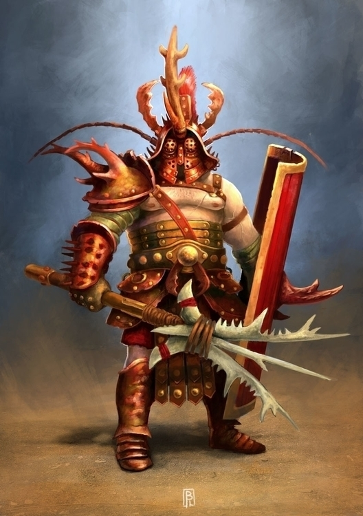 Gladiator - conceptart, characterdesign - boris_rogozin | ello