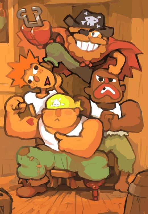 Pirate team - painting - pixelboy-1587 | ello