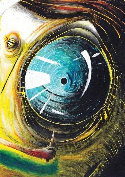 eye - illustration, painting, drawing - fagfedericaaglietti | ello
