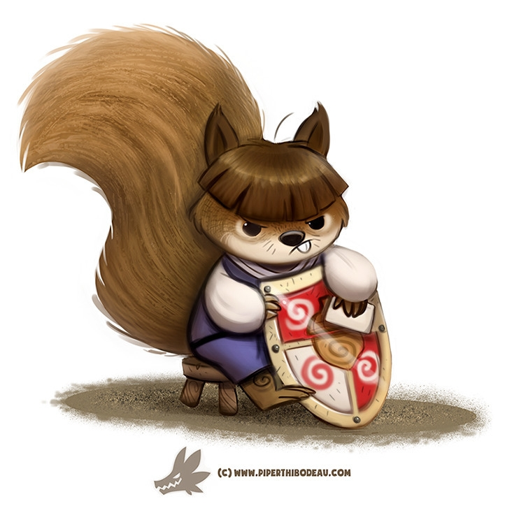 Daily Paint Squirre - 1245. - piperthibodeau | ello