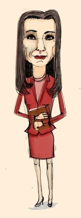 Alicia Florrick - portrait - debbiejenkinson | ello