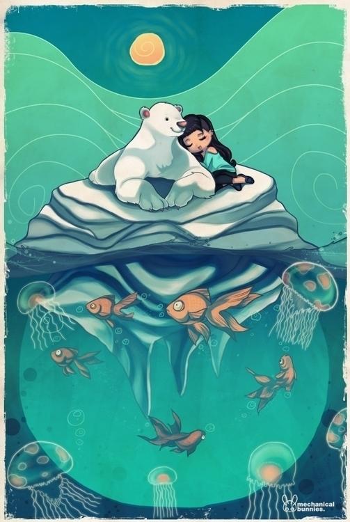 Polar - polarbear, fish - mechbunnies | ello