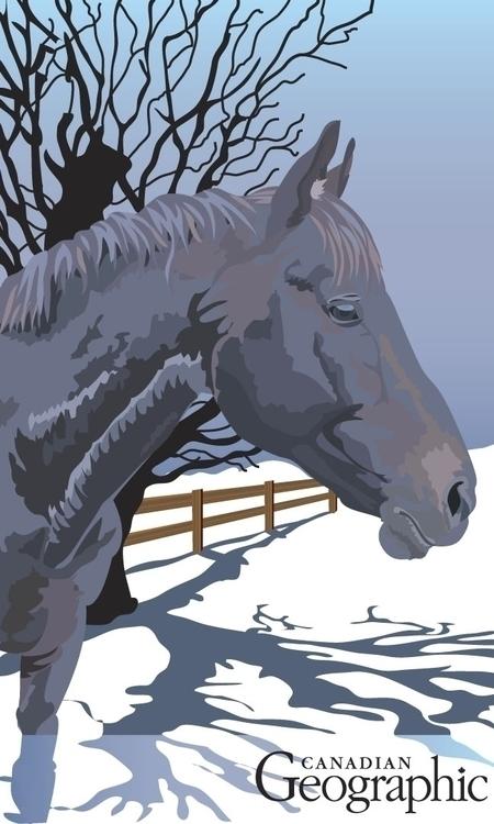Purple horse - illustration, illustrator - shikkaba | ello