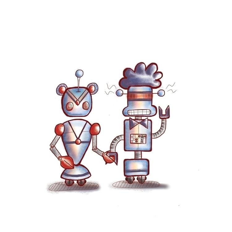 Kitty Sweetie bots - robots, digitalart - shikkaba | ello