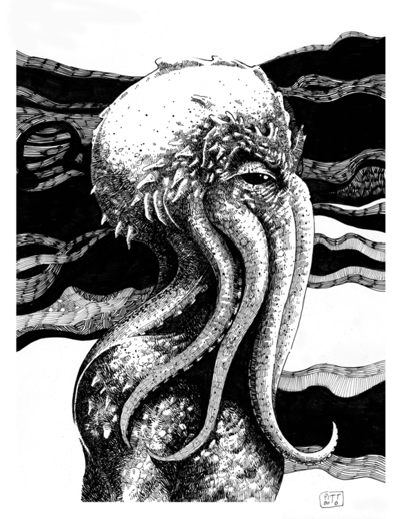 Cthulhu - illustration - pittrorotelli   ello