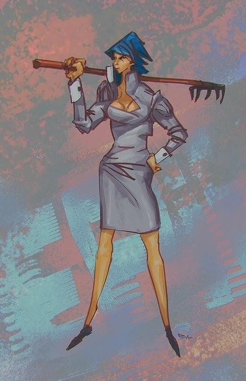 Grablya - illustration, characterdesign - samrisoval | ello