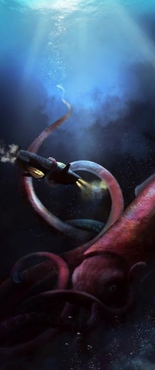 Nautilus giant calmar - illustration - aurorenivet   ello