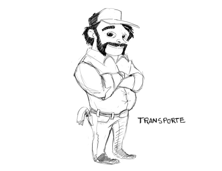 Sketch transportation character - yorlancabezas | ello