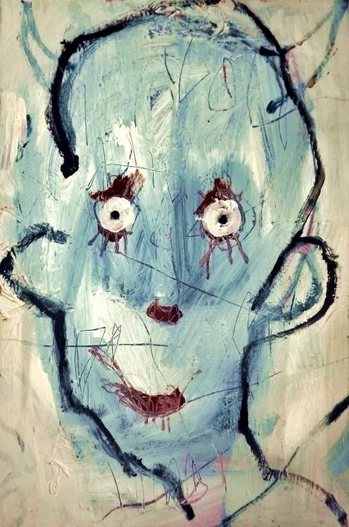 Blue Imp - illustration, painting - robotgeisha   ello