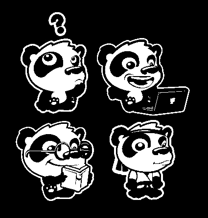 Pandamanda icon designs - characterdesign - khalidrobertson | ello