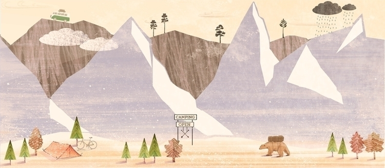 Autumn Adventure - mountains, bear - mathildaholmqvist | ello