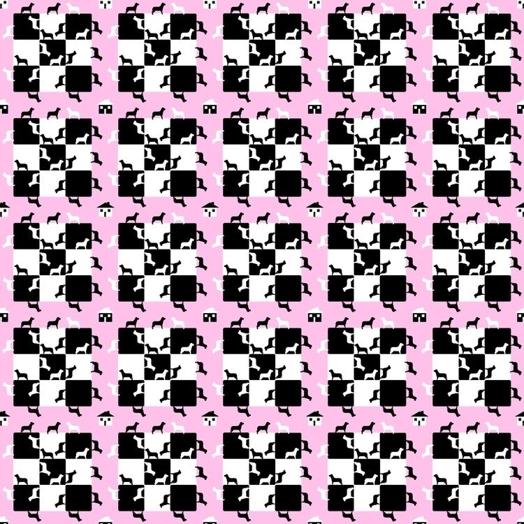 Homes Dogs - pattern, patterndesign - fatimaongleo   ello