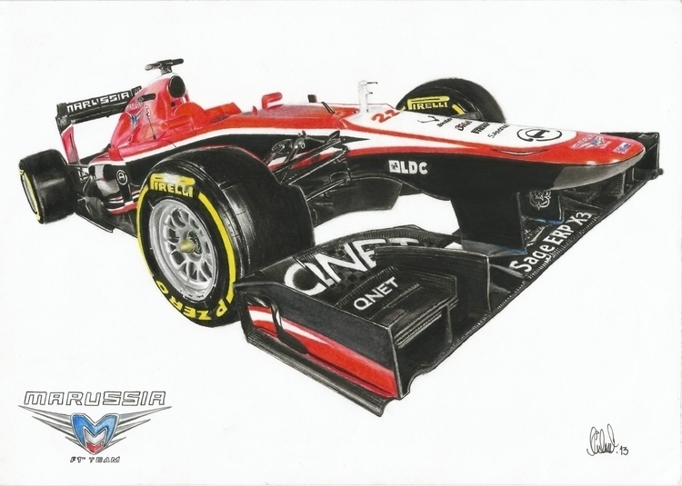 Marussia Cosworth MR02 - 2013 - illustration - aalexwerner | ello