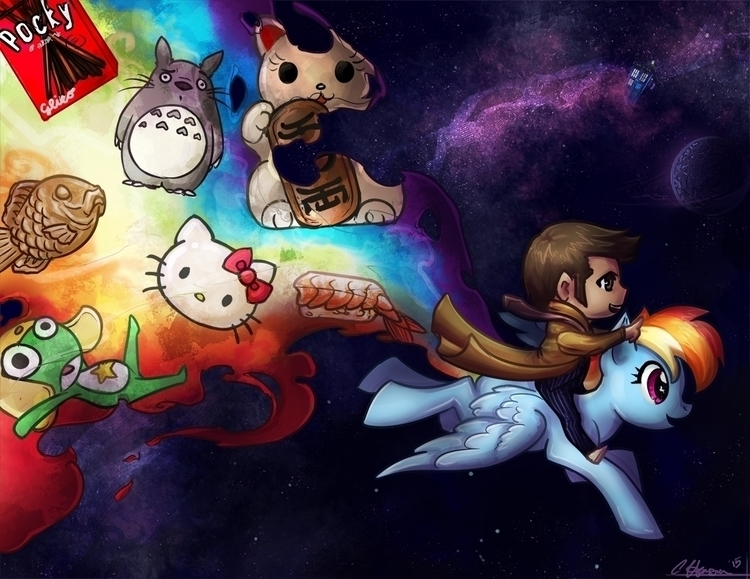 "meme-ish commission ""cartoonish - celestialartistry   ello"