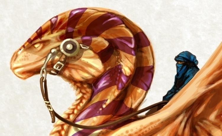 Desert Dragon Character Design - camillaceccatelli   ello