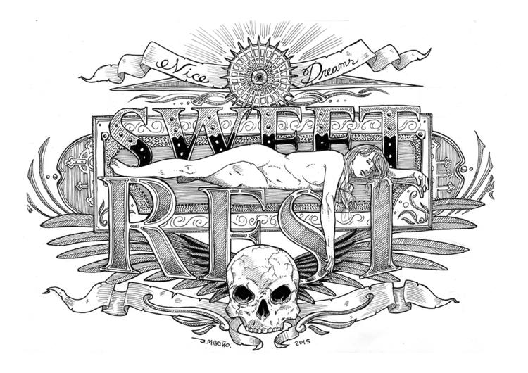 Lettering - lettering, skull, rest - daborien | ello
