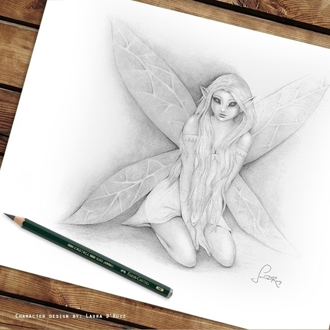 pencil, fantasy, artwork, character - laudruiz | ello