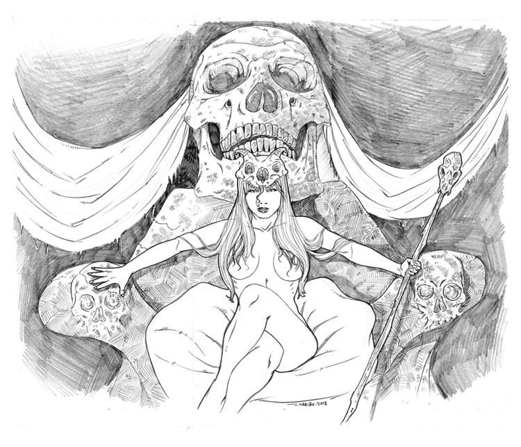 Witch - illustration, pencil, witch - daborien | ello