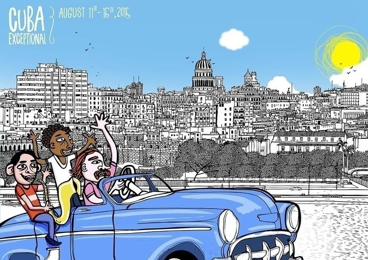 Cuba Exceptional - drawing, design - yorlancabezas | ello