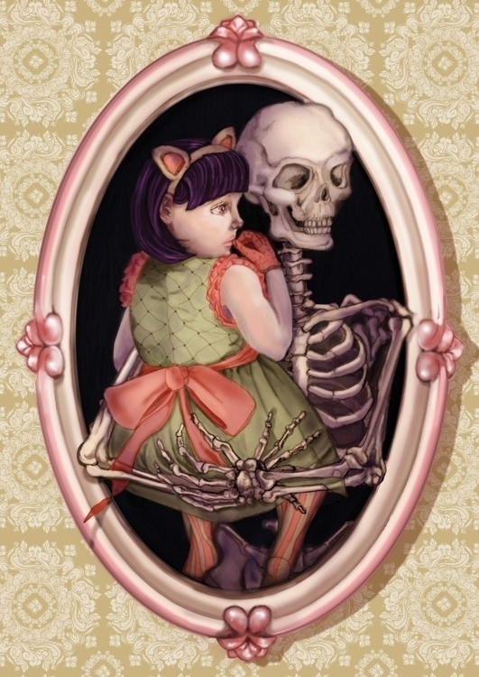 Skeleton Hug 2009 Postcard Show - amyconsolo   ello