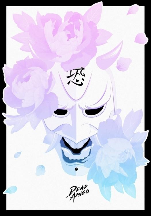 Beautiful Face Fear-01 - illustration - deadamigo | ello