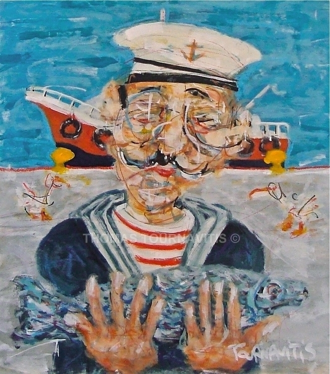 Sailor, 54x47cm, oil canvas. TH - thomastournavitis | ello