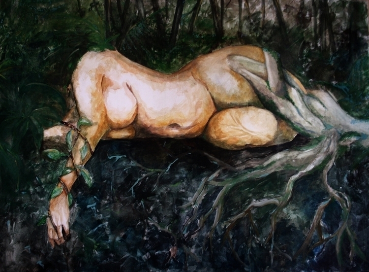 tree woman - thesecretgarden, painting - alesa-7823 | ello