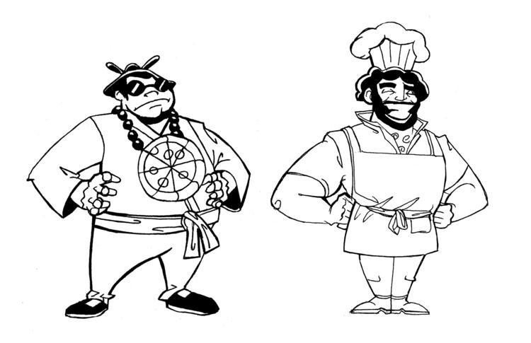 Pizza Dojo - Characters1 - illustration - khalidrobertson | ello