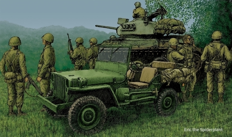 Jeep - #illustration, military - dannybriggs | ello