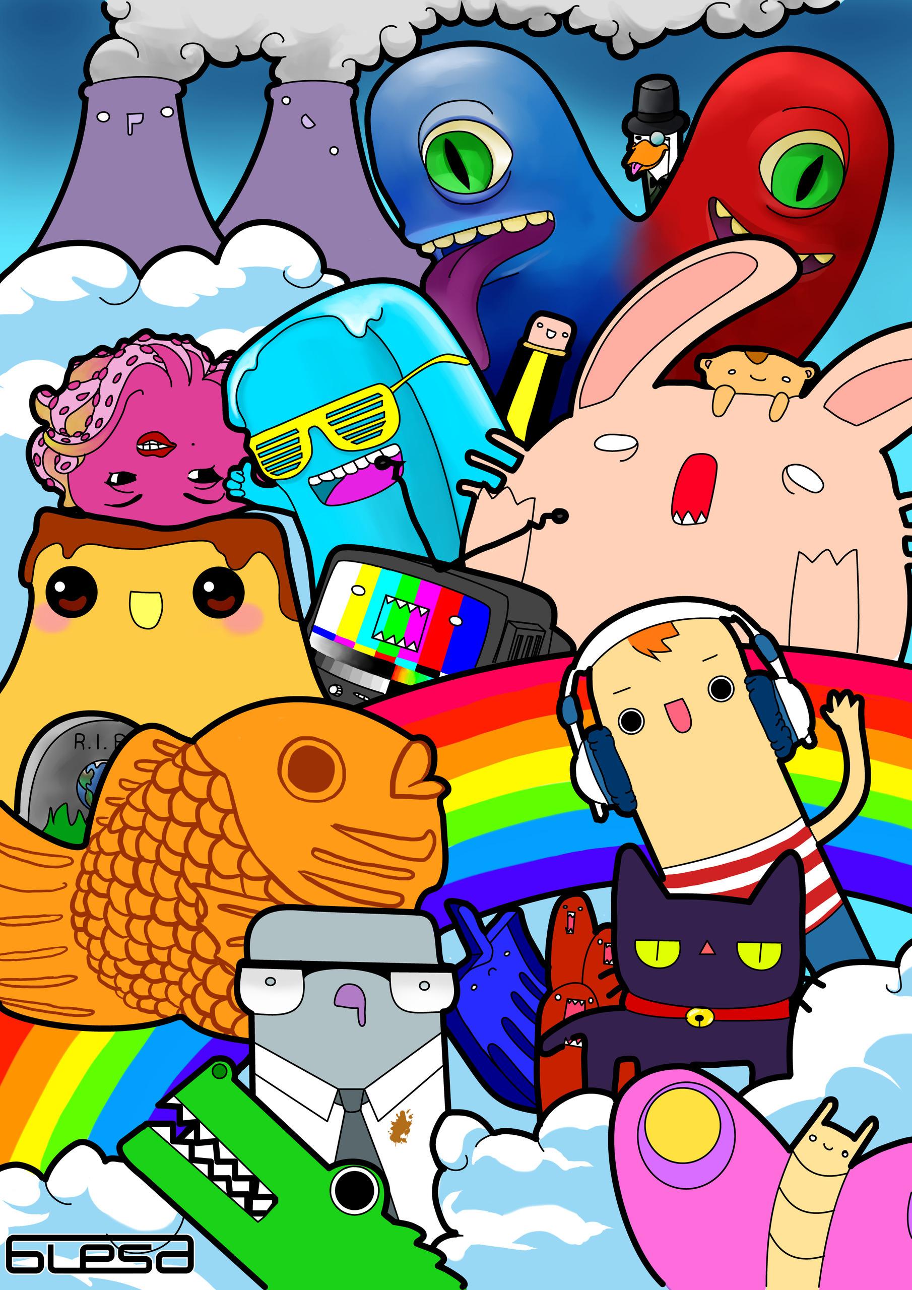 Society - society, digitalart, rainbow - alesa-7823 | ello