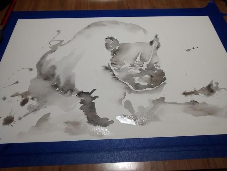 rino - illustration, painting, drawing - garufa | ello
