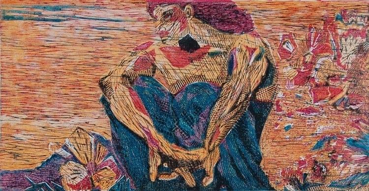 Demon - 2, illustration, linocut - olga_msk | ello