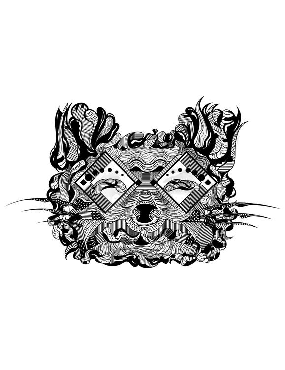 Cat - illustration, characterdesign - karylnerona | ello