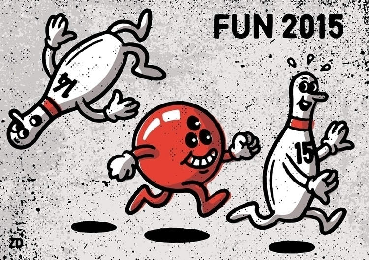 Fun 2015 - illustration, editorialillustration - zanderdekker | ello