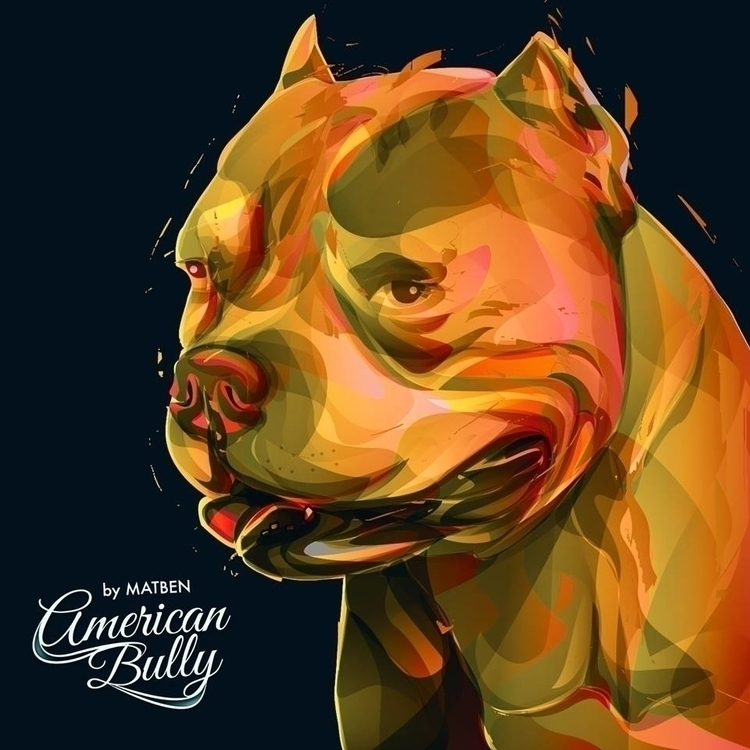 AMERICAN BULLY - #matben, illustration - matben-5447 | ello